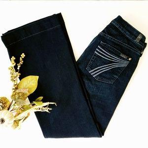 7FAM | Dojo Mid-Rise Wide Leg Flare Elinore Jeans